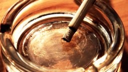 Cigarette and Ashtray 06 closeup stylized Stock Video Footage