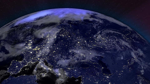 Earth from Space 04 Europe Stock Video Footage