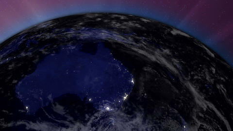 Earth from Space 06 Australia Stock Video Footage
