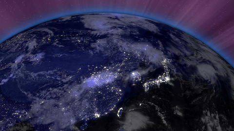 Earth from Space 08 Far East Stock Video Footage