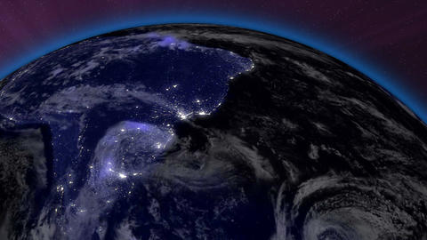 Earth from Space 10 South America Animation