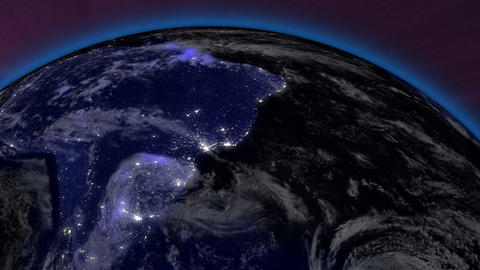 Earth from Space 10 South America Stock Video Footage
