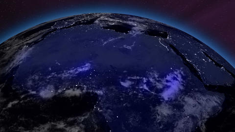 Earth from Space 12 Africa Stock Video Footage