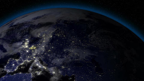 Earth from Space Alien Invasion 02 Europe Stock Video Footage