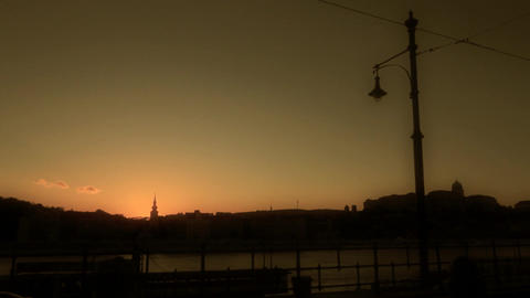 Evening Silhouettes 02 Stock Video Footage