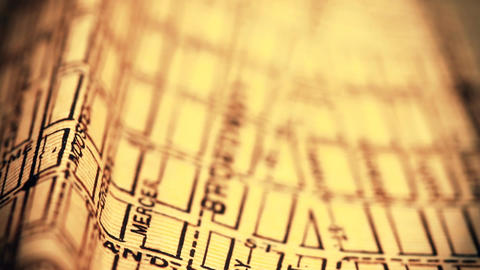 Exclusive New York Map from 1903 04 focusing on Broadway... Stock Video Footage