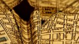 Exclusive New York Map From 1903 11 Focusing On Broadway stock footage