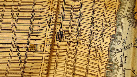 Exclusive New York Map from 1903 13 focusing on Grand... Stock Video Footage