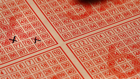 Fill Out Lottery Ticket 02 Stock Video Footage