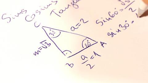Sinus Coinus Tangent Basic Geometrical Formulas 02 Footage