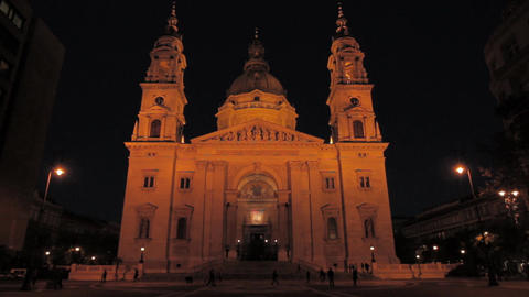 St Stephen Basilica Budapest 02 Stock Video Footage