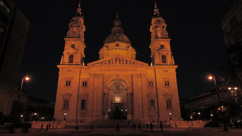 St Stephen Basilica Budapest 02 Stock Video Footage