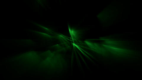 green ray light,flare fiber optic,aurora,seabed... Stock Video Footage