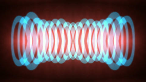 blue circle pulse,round laser,enery tech background.Sound... Stock Video Footage