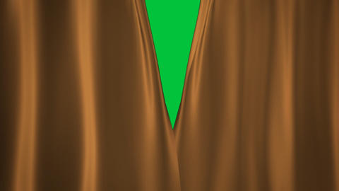 Champagne Gold curtains transition Animation