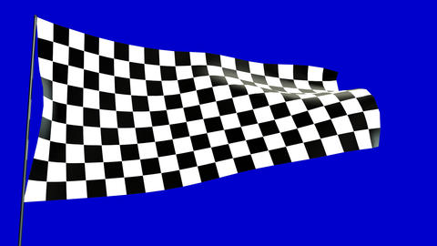 checkered flag A Stock Video Footage