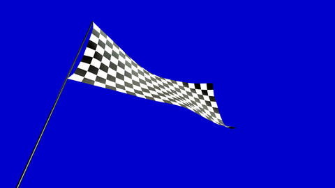 low angle checkered flag Animation