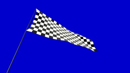 low angle checkered flag Stock Video Footage