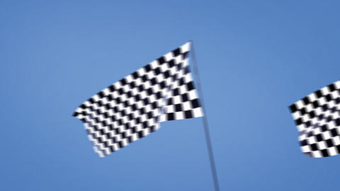 checkered flags cross right Stock Video Footage