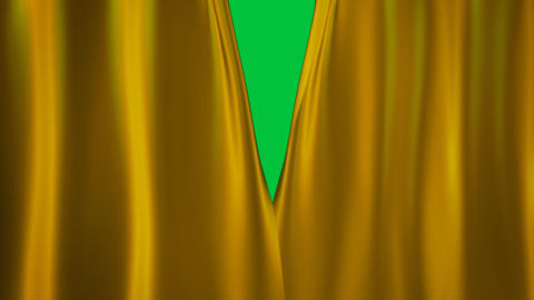gold curtains transition Animation