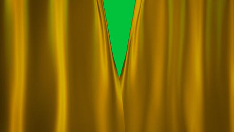 gold curtains transition Stock Video Footage