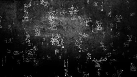 3D Hieroglyphs 05 Stock Video Footage