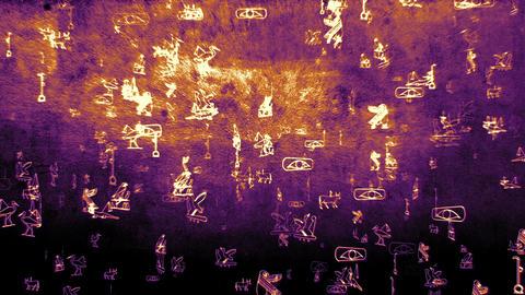 3D Hieroglyphs 09 Stock Video Footage