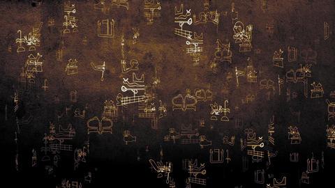 3D Hieroglyphs 11 Stock Video Footage