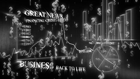 3D Business Dollar 03 Stock Video Footage