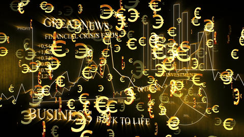 3D Business Euro 02 Stock Video Footage