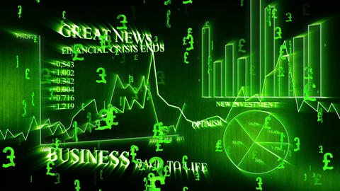 3D Business Pound 01 Stock Video Footage