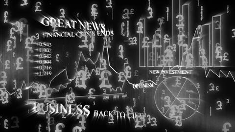 3D Business Pound 03 Stock Video Footage