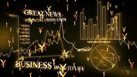 3D Business Yen 02 Stock Video Footage