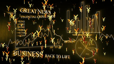 3D Business Yen 02 Stock Video Footage