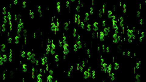 3D Dollar Loop 01 alpha Animation