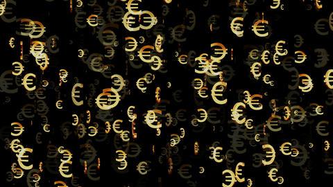 3D Euro Loop 02 alpha Stock Video Footage