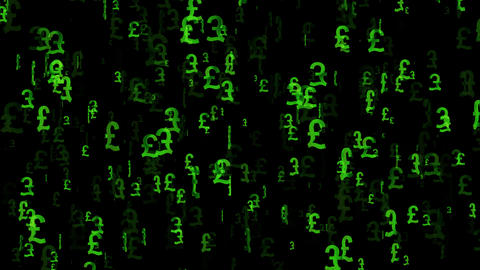 3D Pound Loop 01 alpha Stock Video Footage