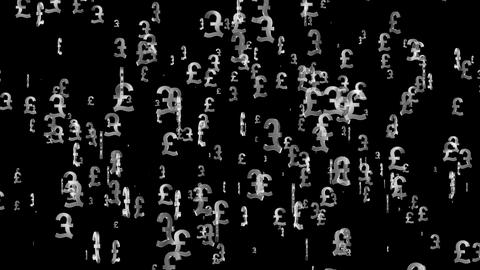 3D Pound Loop 03 alpha Stock Video Footage