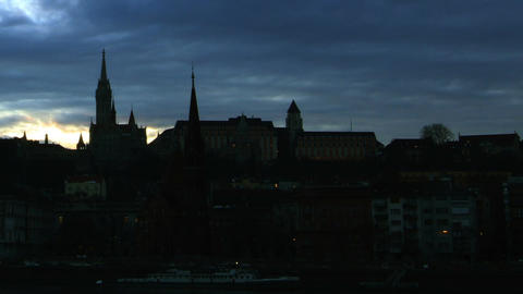 City and Clouds Timelapse 03 Stock Video Footage