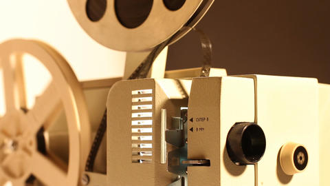 8mm Projector 01 sound Stock Video Footage
