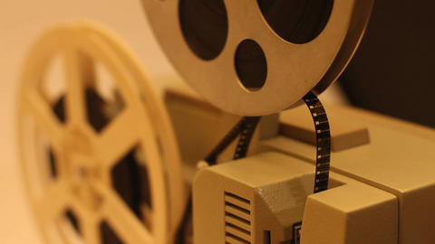 8mm Projector 05 sound Stock Video Footage