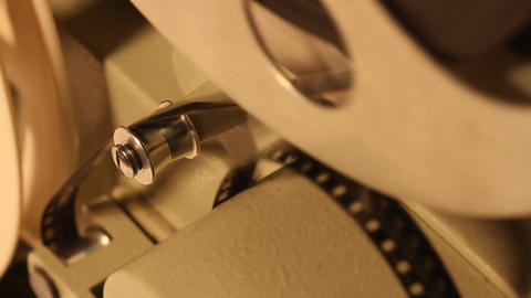 8mm Projector 13 closeup sound Stock Video Footage