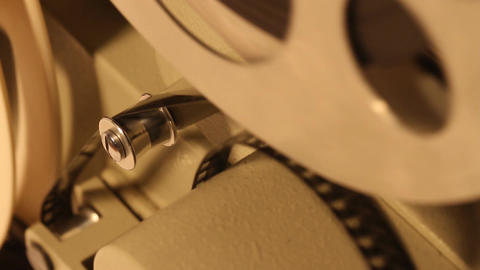 8mm Projector 13 closeup sound Footage
