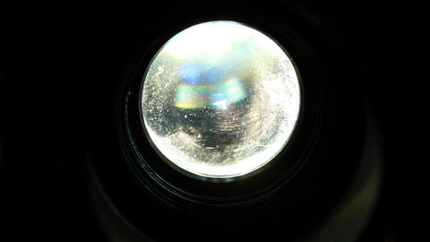 8mm Projector Lens CloseUp 01 Footage