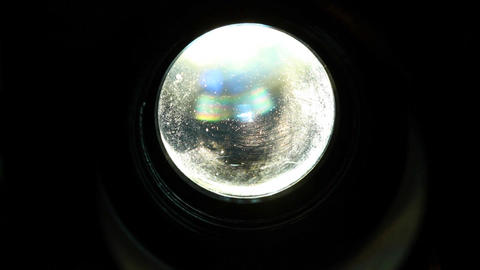 8mm Projector Lens CloseUp 01 Stock Video Footage