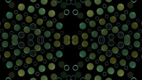 green circle array,button,pearls,gems,jade,precious... Stock Video Footage