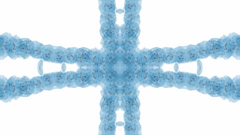 blue flower pattern,energy collision pulse.symbol,vision,idea,creativity,creative,beautiful,art,deco Animation