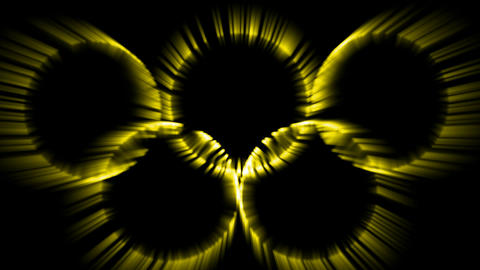 yellow circles ray... Stock Video Footage