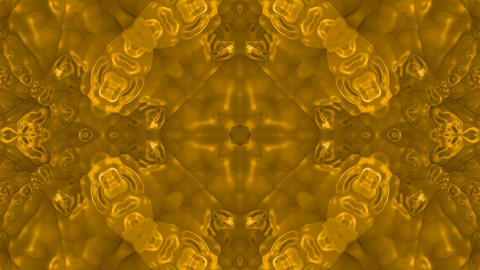 Gold material flower pattern,gorgeous east religion fancy... Stock Video Footage
