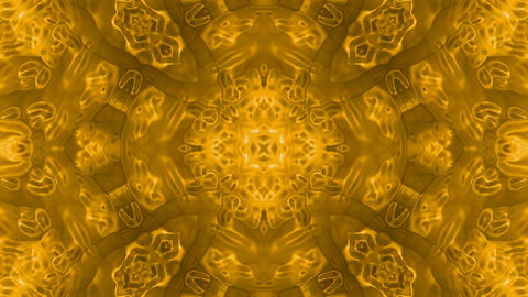 Gold material flower pattern,gorgeous east religion fancy background.molecules,Bacteria,microbes,alg Animation
